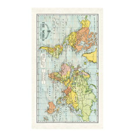 Cavallini Geschirrtuch World Map