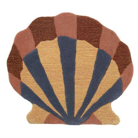ferm LIVING Teppich/Wanddekoration Shell Multi