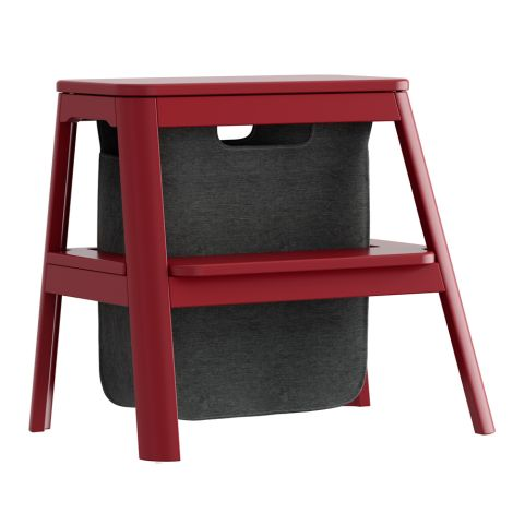 UMAGE - VITA copenhagen Hocker mit Aufbewahrung Step it up Ruby Red