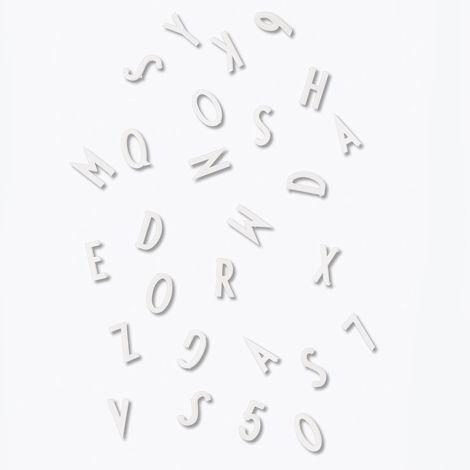 Design Letters Buchstaben-Set für Messageboard White