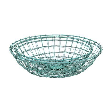 GreenGate Metallkorb Rund Mint 2er-Set •
