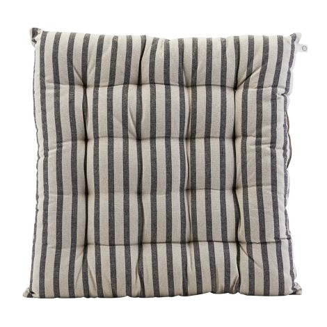 House Doctor Sitzkissen Striped Black/Grey 50 x 50 •