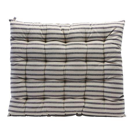 House Doctor Sitzkissen Striped Black/Grey 60 x 70