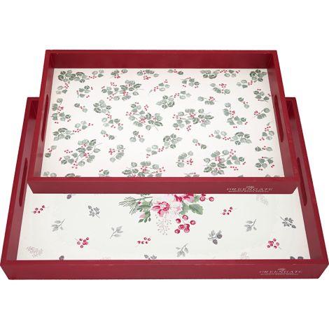 GreenGate Tablett Charline White 2er-Set