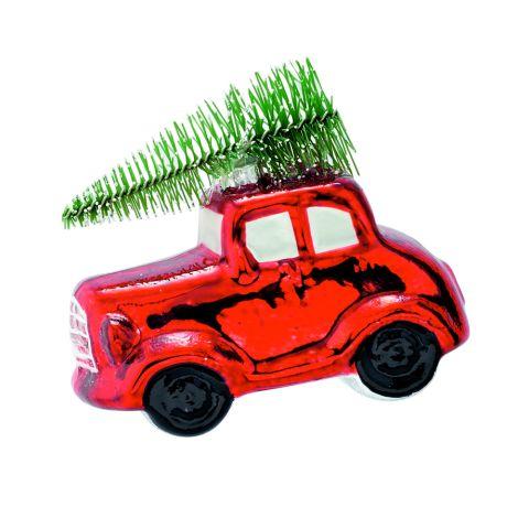 GreenGate Weihnachtsbaumanhänger Auto Joselyn Red Small