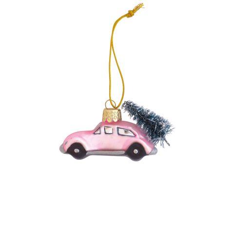 GreenGate Weihnachtsbaumanhänger Auto Marley Pale Pink