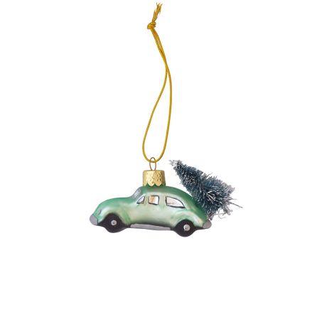GreenGate Weihnachtsbaumanhänger Auto Marley Pale Green