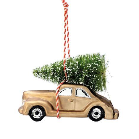 GreenGate Weihnachtsbaumanhänger Auto Nicoline Smoke Small
