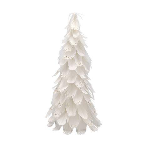 GreenGate Tannenbaum aus Federn Off White Medium