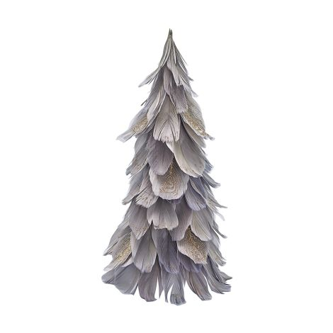 GreenGate Tannenbaum aus Federn Grey Medium