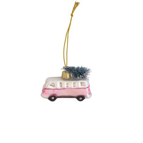 GreenGate Weihnachtsbaumanhänger Mini Van Marley Pale Pink