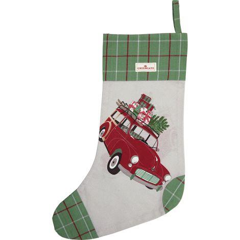 GreenGate Weihnachtsstrumpf Car Red