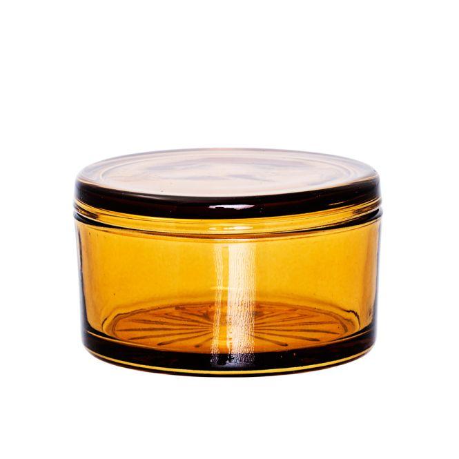 bloomingville aufbewahrungs dose mit deckel amber online kaufen emil paula. Black Bedroom Furniture Sets. Home Design Ideas