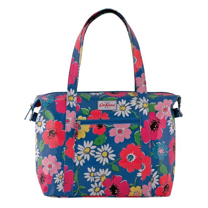 cath kidston schultertasche large zipped shoulder bag paradise flowers true blue online kaufen. Black Bedroom Furniture Sets. Home Design Ideas