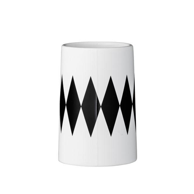 bloomingville zahnb rstenbecher diamond wei schwarz. Black Bedroom Furniture Sets. Home Design Ideas