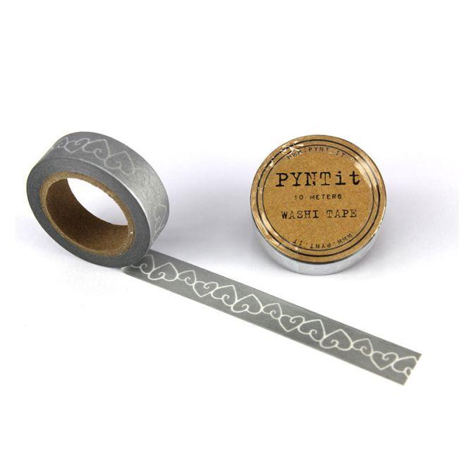 pyntit washi tape hearts silber online kaufen emil paula. Black Bedroom Furniture Sets. Home Design Ideas