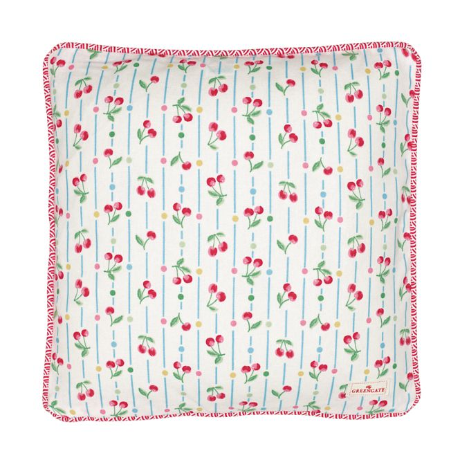 greengate kissen cherry white 40x40 acheter en ligne emil paula. Black Bedroom Furniture Sets. Home Design Ideas