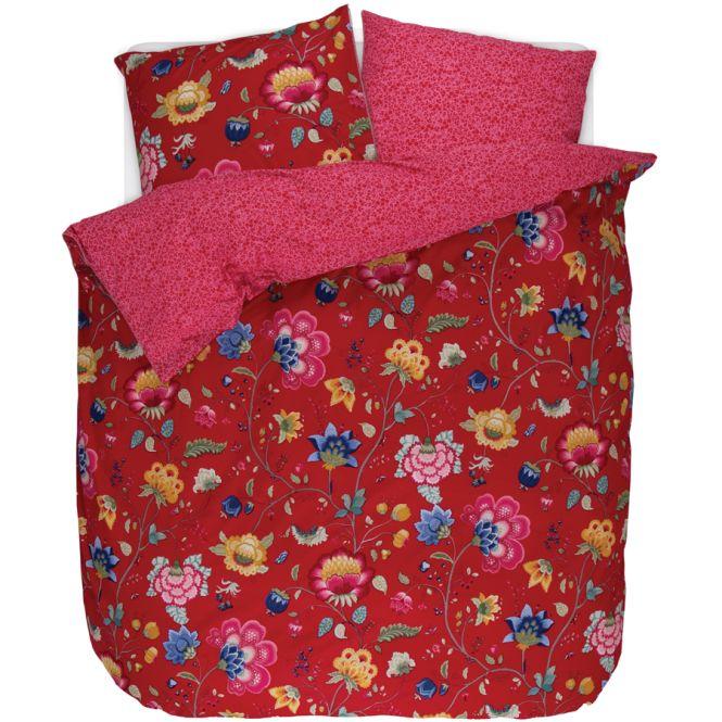 pip studio bettw sche floral fantasy red online kaufen. Black Bedroom Furniture Sets. Home Design Ideas