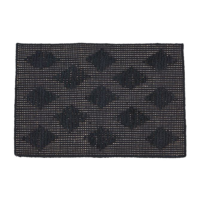 house doctor teppich cubie schwarz 70x50cm online kaufen. Black Bedroom Furniture Sets. Home Design Ideas