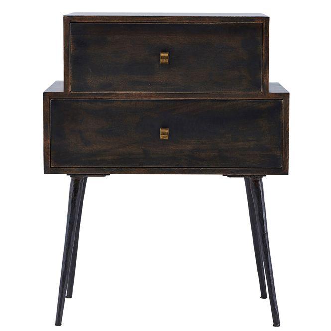 house doctor beistelltisch schublade club schwarz gebeizt online kaufen emil paula. Black Bedroom Furniture Sets. Home Design Ideas