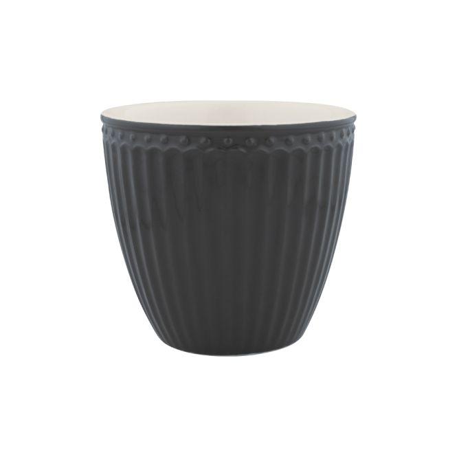 greengate latte cup alice dark grey online kaufen emil paula. Black Bedroom Furniture Sets. Home Design Ideas