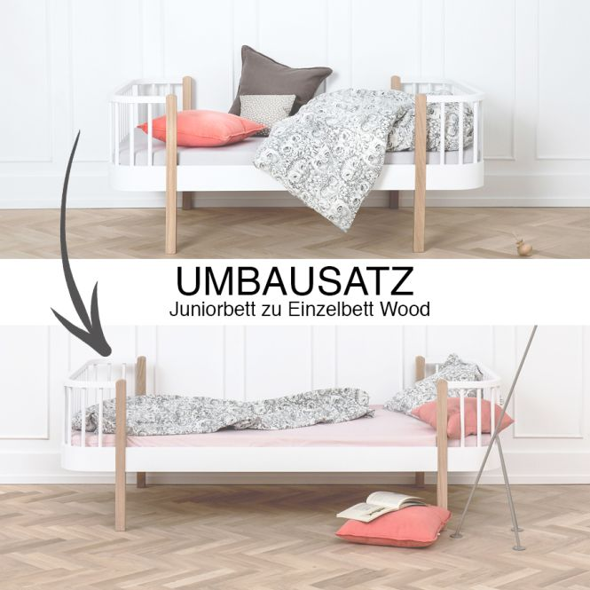 oliver furniture umbauset juniorbett zu einzelbett wood. Black Bedroom Furniture Sets. Home Design Ideas