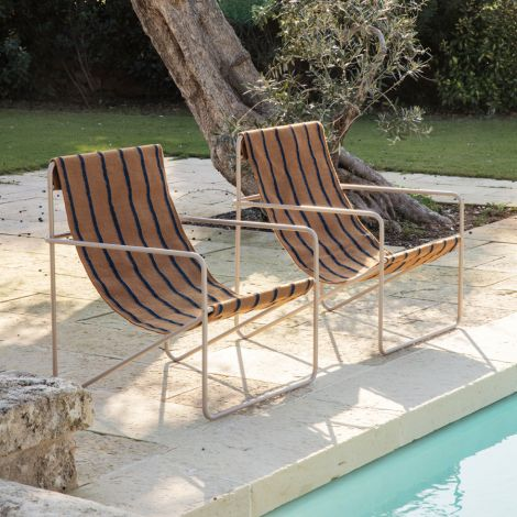 ferm LIVING Stuhl Desert Cashmere/Stripe