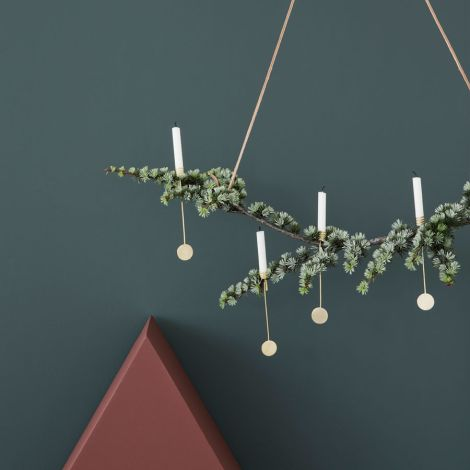 ferm LIVING Weihnachtsbaum Kerzenhalter 4er Set