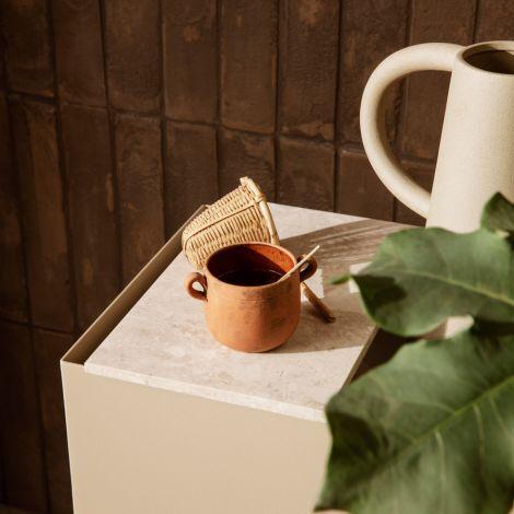 ferm LIVING Ablage für Plant Box Marble Beige