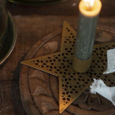 IB LAURSEN Kerzenhalter für Stabkerze Stern 13,5 cm