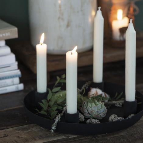 IB LAURSEN Kerzenhalter für 4 Stabkerzen schwarz