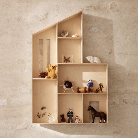 ferm LIVING Puppenhaus-Setzkasten Miniature Funkis Natural
