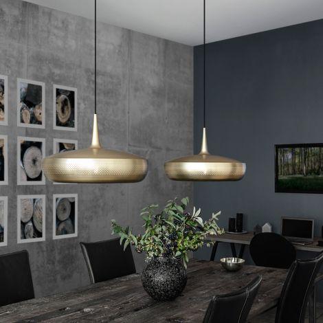 UMAGE - VITA copenhagen Lampenschirm Clava Dine Brushed Brass V2 •