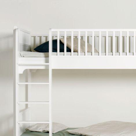 Oliver Furniture Etagenbett Seaside Weiß mit gerader Leiter