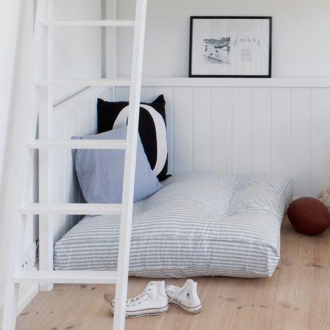 Oliver Furniture Bodenkissen Blaue Streifen