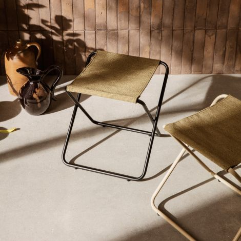 ferm LIVING Hocker Desert Black/Sand