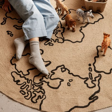 ferm LIVING Teppich Jute Large World