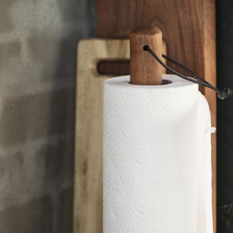 IB LAURSEN Küchenrollenhalter Wood Stone