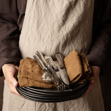 ferm LIVING Stoffserviette Linen Cinnamon 2er-Set