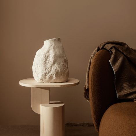 ferm LIVING Vase Vulca Medium Off-white Stone