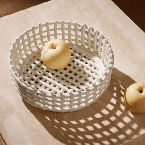 ferm LIVING Schale Keramik-Centrepiece Off-white