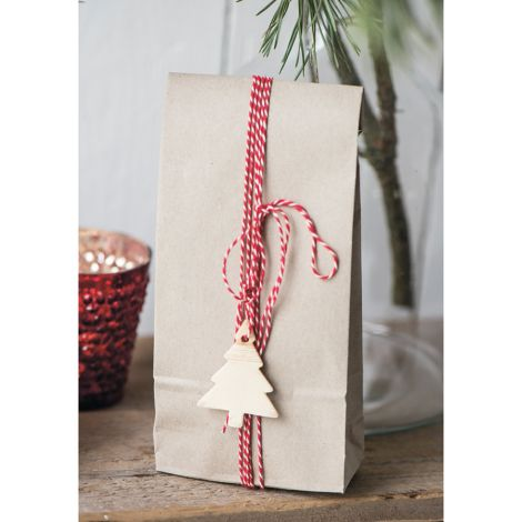 IB LAURSEN Geschenktüte Papier Kraft länglich 10 Stück