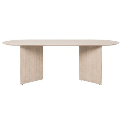 ferm LIVING Tischplatte Mingle Oval Natural Oak Veneer 220 cm
