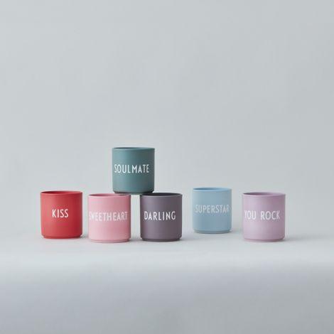 Design Letters  Porzellan Becher Favourite Cups Pink Sweetheart