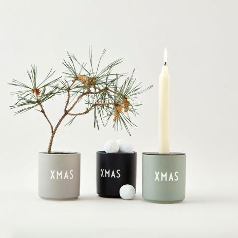 Design Letters Porzellan Becher Favourite Cups X-Mas Grey