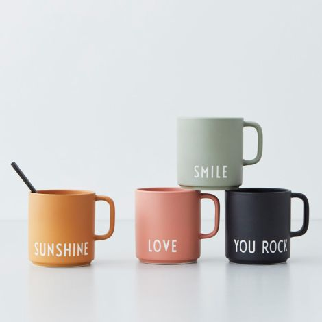 Design Letters Porzellan Tasse Favourite Cups Smile Green