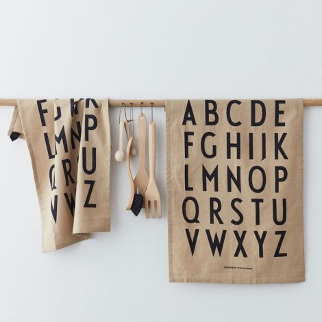 Design Letters Geschirrtuch White 2er-Set