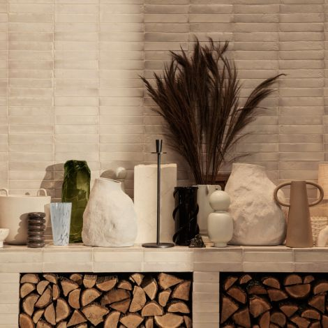 ferm LIVING Vase Vulca Large Off-White Stone