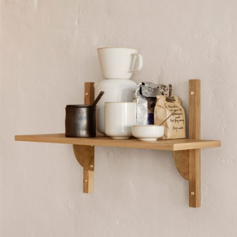 ferm LIVING Regal Sector Oak Brass