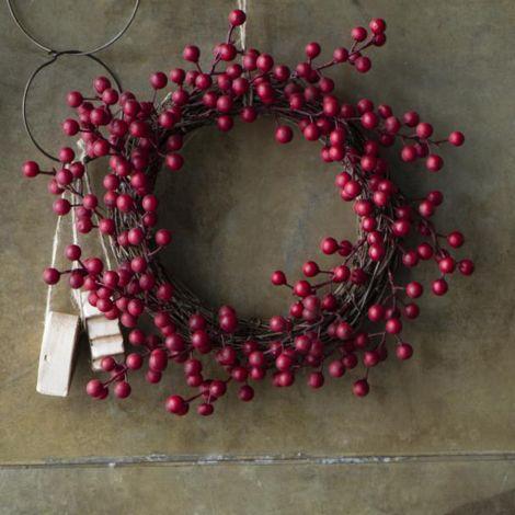 IB LAURSEN Künstlicher Kranz mit roten Beeren 30 cm